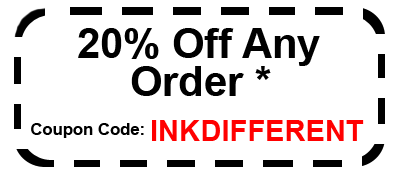 20% off of any order Code: INKDIFFERENT